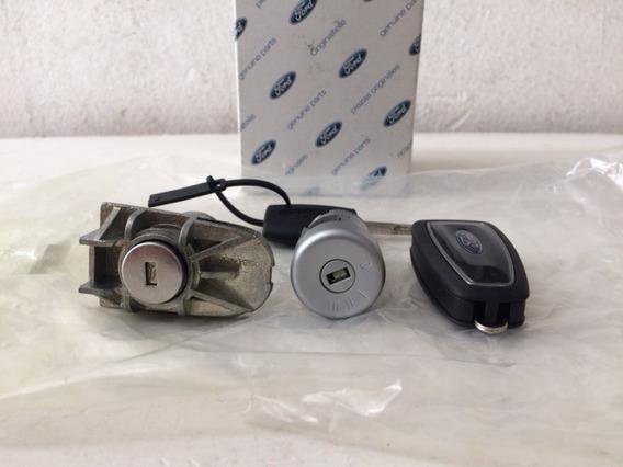 Jogo Cilindro Miolo Ignição Chave Ford Novo Focus