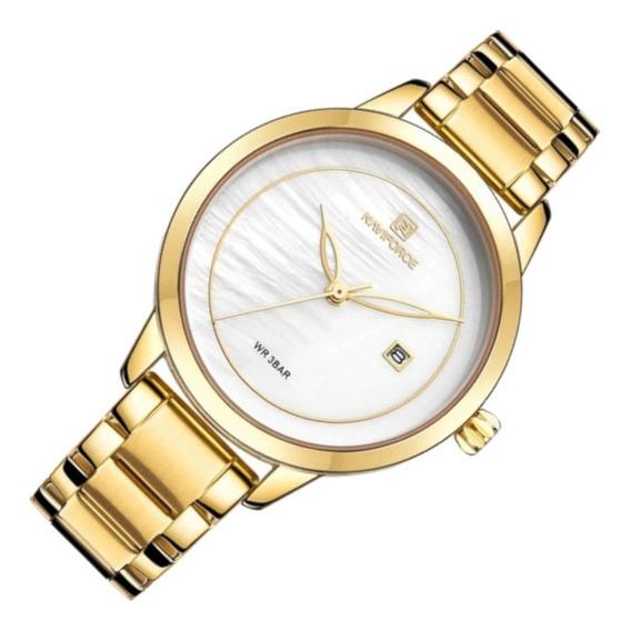 Relógio Feminino Naviforce 5008 Dourado