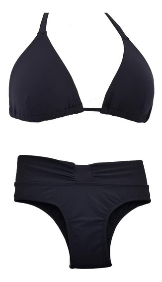 Biquíni Plus Size Cintura Alta + Cortininha Sem Bojo