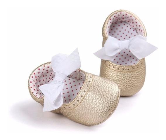Zapatos / Mocasines Para Bebé Dorados
