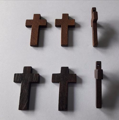 10 Cruces Madera 4,2 Cm X 2,5 Cm Para Denarios Rosarios Cr6