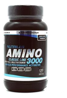 Aminoacidos Nutrilab Amino 3000 X120 Cápsulas