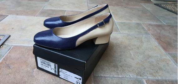Zapatos Ferraro De Cuero