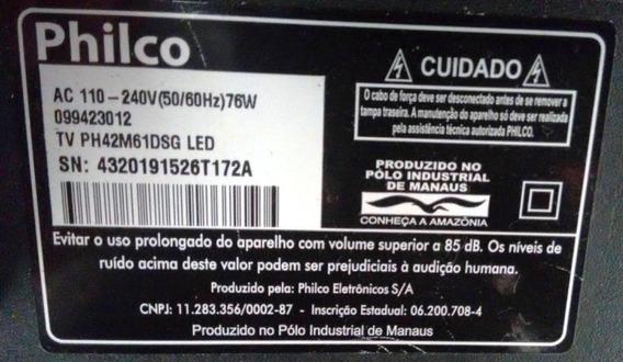 Tv Philco - Ph42m61dsg - Retirada De Peças E Cabos