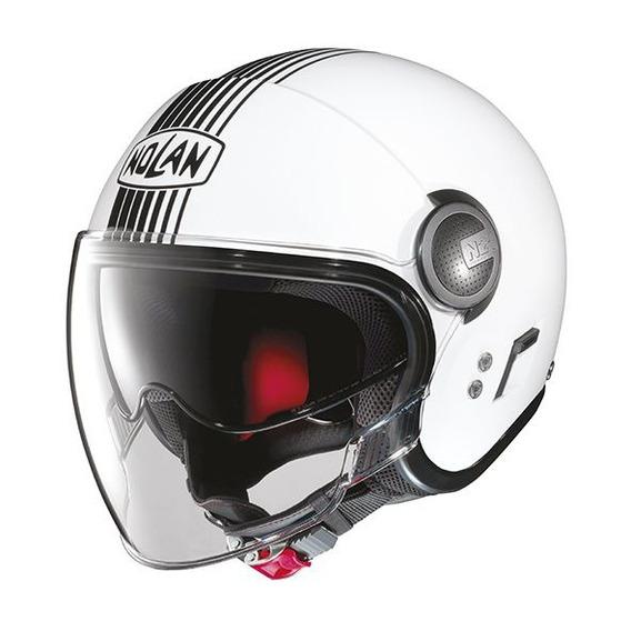 Capacete Nolan N21 Joie De Vivre Branco Viseira Solar + Touca Balaclava (capacete Aberto)