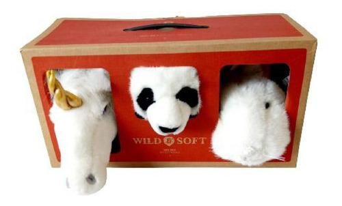 Lovely Box 3 Mini Cabeças Coelho Panda Unicórnio Wild & Soft