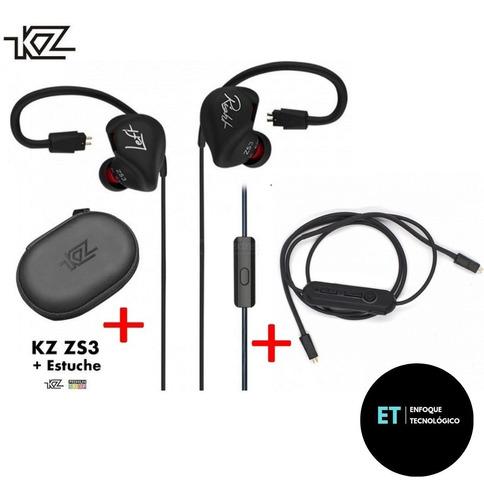 Auriculares Kz Zs3 Con Mic + Modulo Bluetooth 4.2 + Estuche