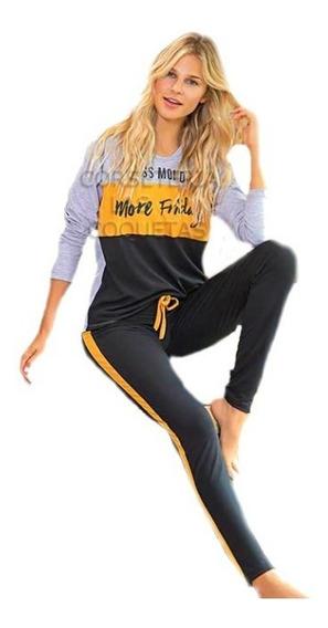 Pijama Remera 3 Colores Y Pantalon Bianca Secreta 20624