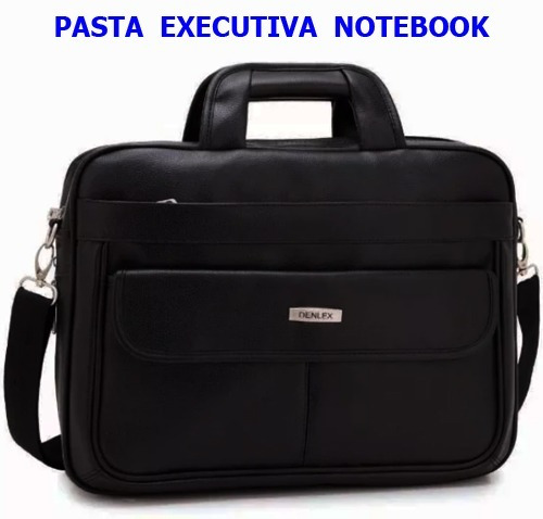3 Pastas Executiva Notebook Couro Sintético Atacado