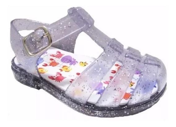 Sandália Aranha Bebê Tam. 21-22 Jelly Glitter Com Luz Led