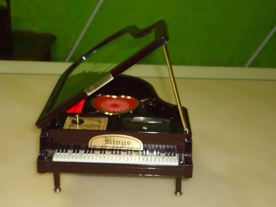 Porta Joias Musical Com Porta Anel Repartições Antigo