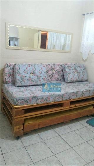 Kitnet Com 1 Dormitório Para Alugar, 29 M² Por R$ 1.100/mês - R0f23k - Canto Do Forte - Praia Grande/sp - Kn0052