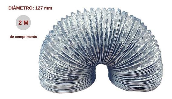 Tubo Flexível De Alumínio Para Coifa Slim-127 Mm Ø - 2 Me