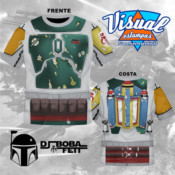 Camiseta Uniforme Boba Fett Star Wars 3d