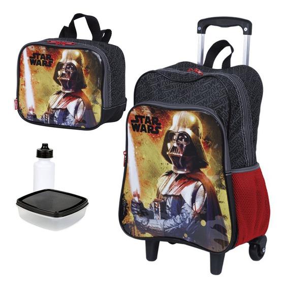 Kit Escolar Mochila Star Wars Darth Vader 18m Sestini