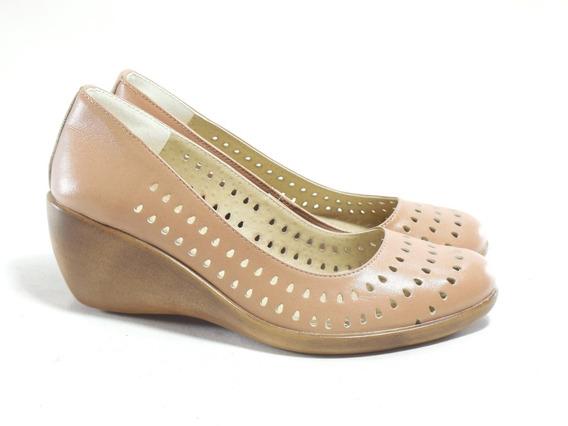 Zapato Mujer Taco Chino Cuero