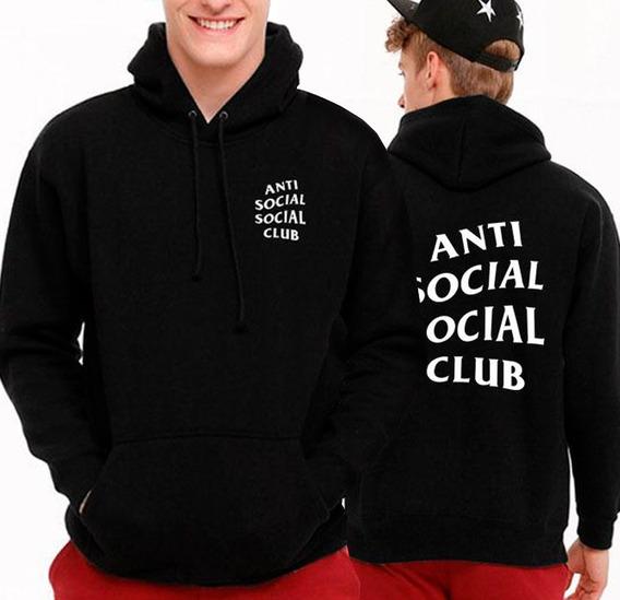 Sweater Anti Social Social Club Suéter Con Capucha Algodón