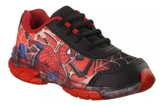 Tênis Infantil Homem Aranha Spider Man Com Led Luz