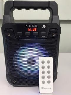 Parlante Portátil Kts Microfono De Regalo Y Control Remoto