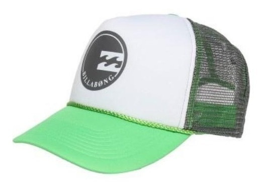 Boné Billabong Nu Wave Trucker - Branco E Verde - Original