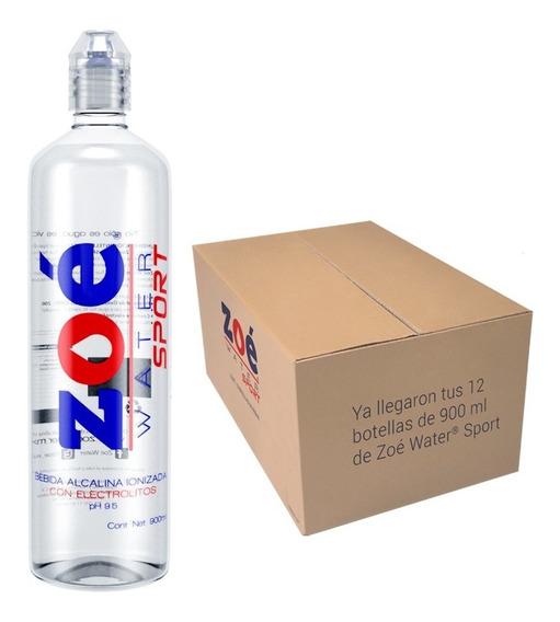 Agua Alcalina Zoé Water Sport, 900ml - Caja Con 12 Botellas