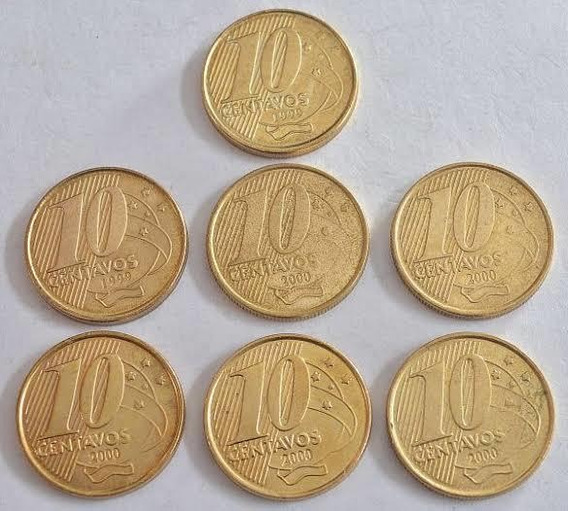 Moedas 10 Centavos Real / 1998/1999/2000 Raras