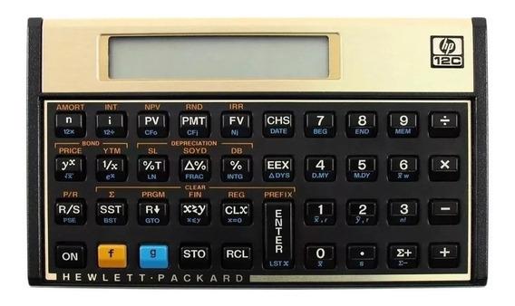 Calculadora Hp 12c Dourada Original Promoção