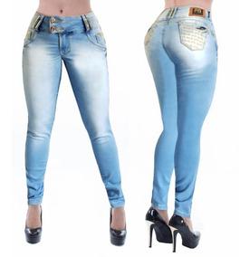 205e6efaa Calca Jeans Numero 36 Veste - Calças Femininas Jean Azul-claro com o ...