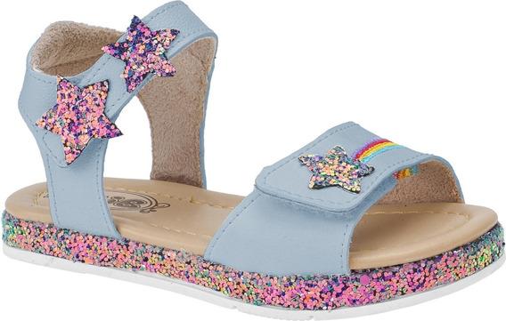 Sandália Infantil Velcro Feminina Menina Glitter 262620