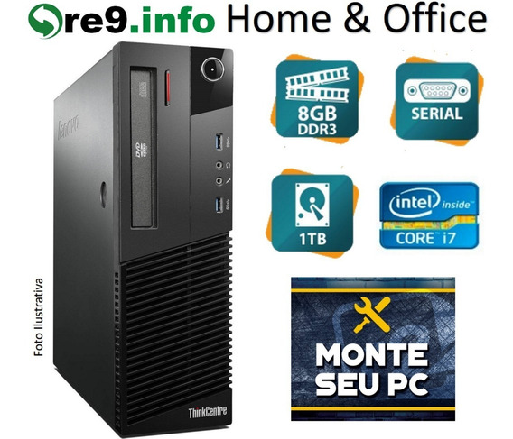 Pc Lenovo Thinkcentre M83 Sff Octa I7 3.9ghz 8gb 1tb K694