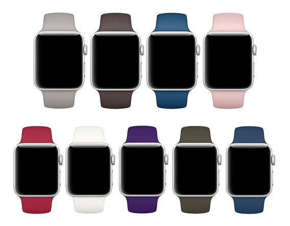 Pulseira Silicone Sport Para Apple Watch 38mm 40mm 42mm 44mm