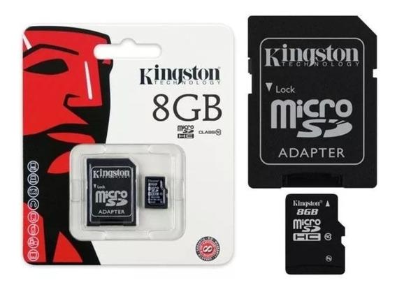 Cartão Memória De 8gb Com Adaptador Micro Sd/hc Lacrado