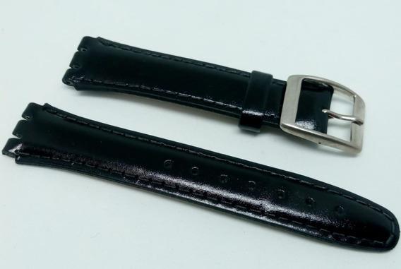 Pulseira Swatch Preta Couro *irony* 17 E 19mm