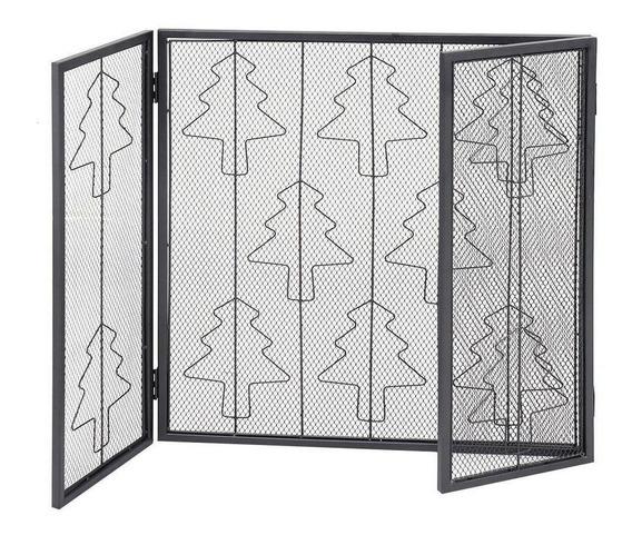 3 Paneles De Acero Plegables Para Pantalla De Chimenea