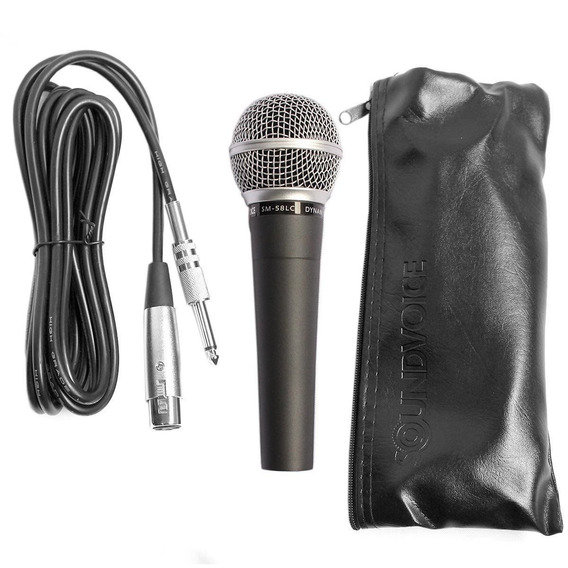 Microfone De Mão Sm58lc Dinâmico Soundvoice