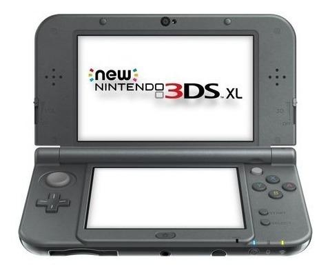 Nintendo New 3ds Xl Preto Completo + Jogos + Case + Pelicula