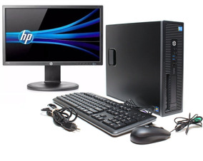 Cpu + Monitor Hp Prodesk Core I7 4gb 500gb 20 Pol - Novo