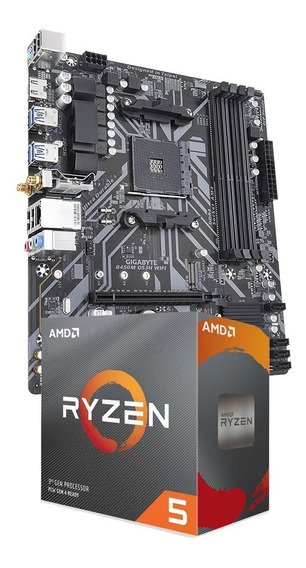 Combo Amd Ryzen 5 3600 + Gigabyte B450m Ds3h Wifi Cuotas