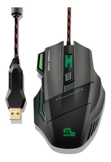Mouse Gamer Profissional Warrior Mo207 7 Botões 3200dpi +pad