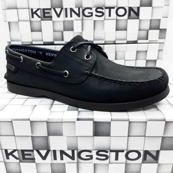 Zapatos Kevingston Yatch Negro Mocasin