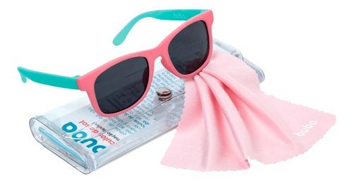 Imagem 1 de 10 de Óculos De Sol Rosa Bebe Infantil 100% Uva Uvb Flexível 0-36m