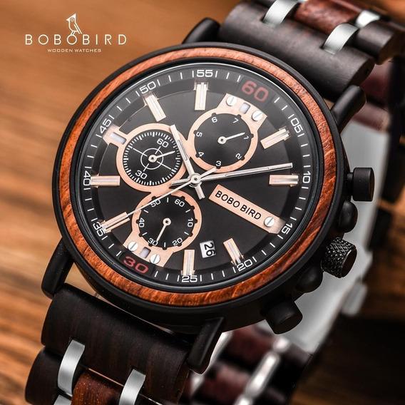 Relógio Bobo Bird S-18 Tobacco