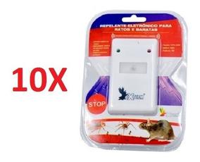 Kit 10 Repelente Eletronico Para Ratos Formiga Aranha Barata