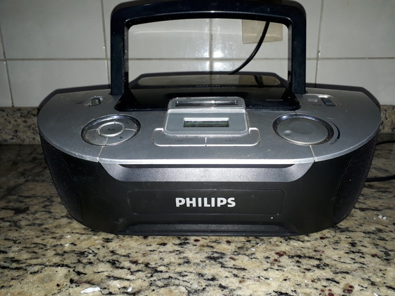 Cd Player Mp3 Fm Am Philips Az 1134 Funciona Bem Boombox