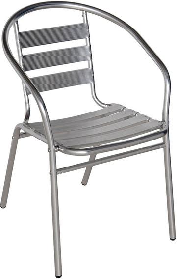 Cadeira Poltrona Para Jardim Piscina Praia Em Alumínio Mor
