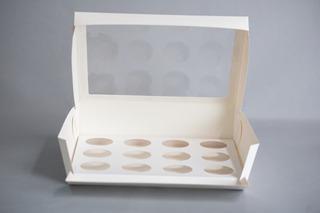 Caja Cupcake X12 C/ Visor (x 50 U.) Muffin Pvc Acetato - 039 Bauletto