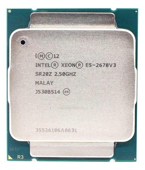 Processador Intel Xeon E5-2678 V3 CM8064401967500 de 12 núcleos e 2.5GHz de frequência