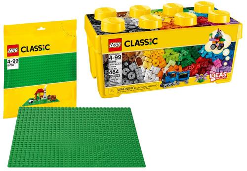 Kit Lego Classic 10696 - Caixa Média De Peças + Base 10700