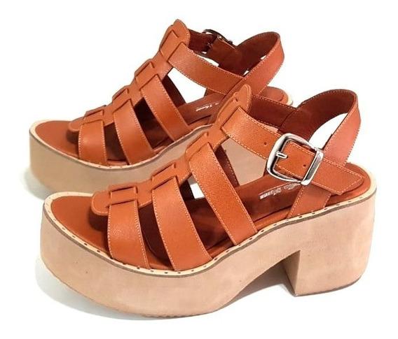 Sandalias Base Plataforma Núm 41 42 43 44 Zinderella Shoes