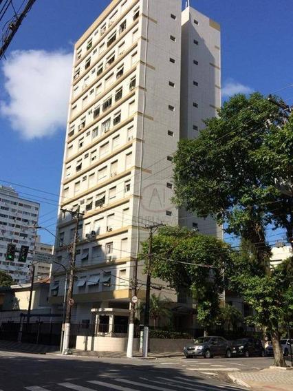 Kitnet Com 1 Dormitório À Venda, 39 M² Por R$ 195.000,00 - Aparecida - Santos/sp - Kn0242